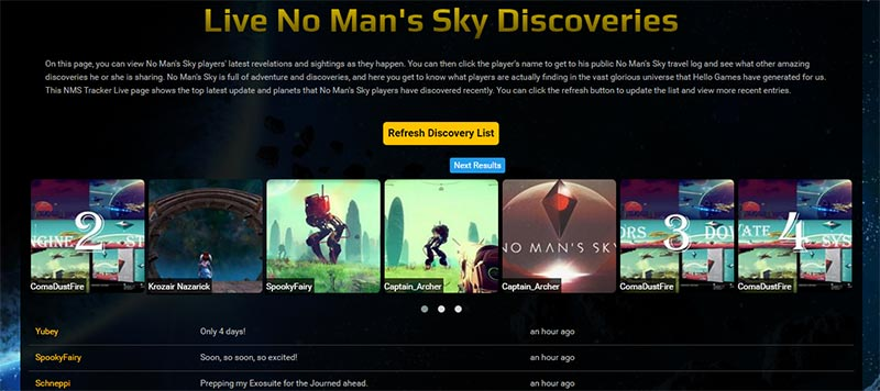 Запустился сайт с отслеживанием ваших открытий в No Man's Sky - Изображение 1