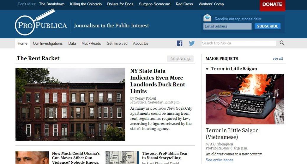 ProPublica стал первым крупным новостным сайтом глубинного интернета - Изображение 1