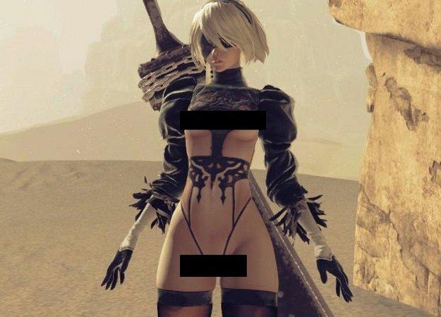 Мод для PC-версии Nier: Automata раздевает главную героиню - Изображение 1