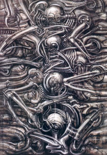 Галерея самых жутких артов Гигера. Страсть, секс истрах - Изображение 11