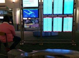 Скучающий геймер подключил кмонитору ваэропорту Портленда PS4 истал играть вApex Legends