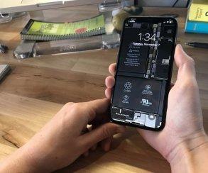Круто и необычно! Обои с «внутренностями» iPhone X