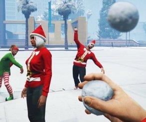 Гифка дня: игра в снежки в GTA 5