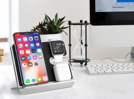 AirPower уже не пригодится: беспроводная зарядка iComboStand заряжает четыре Apple-устройства сразу