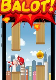 Balot King - the adventure of flying tiny red egg man