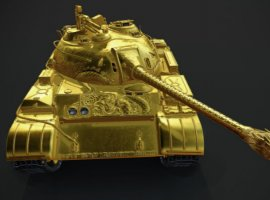 Самый дорогой прем-танк в World of Tanks стоит 5 500 рублей. И он полностью золотой