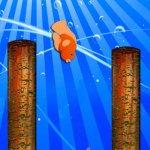 Скриншот Flappy Cute Golden Fish : The Ocean Splashy Adventure - Gold – Изображение 2