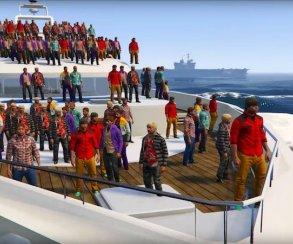 Могут ли 100 человек утопить яхту – и другие эксперименты в GTA 5