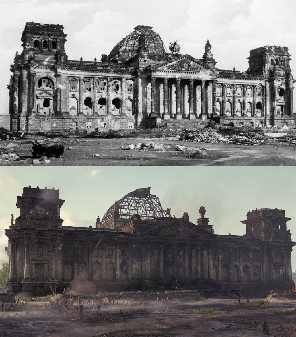 Рейхстаг был воспроизведен свысокой точностью пофотографиям.