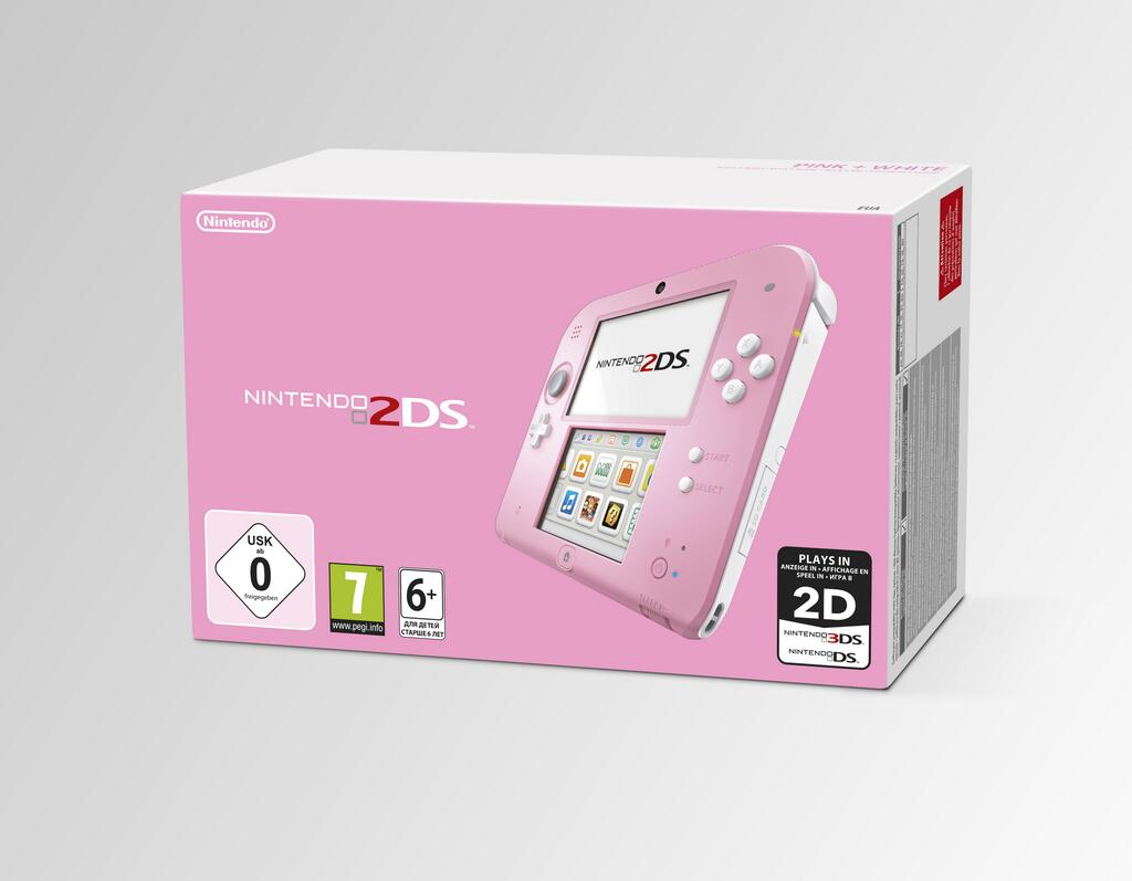 Бело-розовую 2DS упакуют с Kirby: Triple Deluxe для Европы | Канобу - Изображение 1016