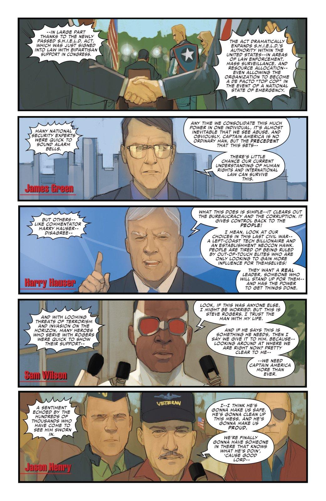 В эпилоге Civil War II Капитан Америка-агент Гидры стал главой ЩИТ | Канобу - Изображение 5098