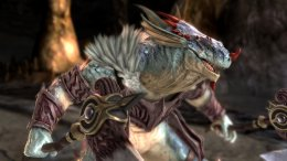 Человек-ящер нещадно избивает своего противника в SoulCalibur VI гигантским пенисом