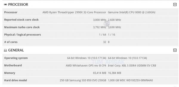 32-ядерный монстр AMD Ryzen Threadripper 2990X засветился в3DMark. Цена соответствующая | Канобу - Изображение 4219