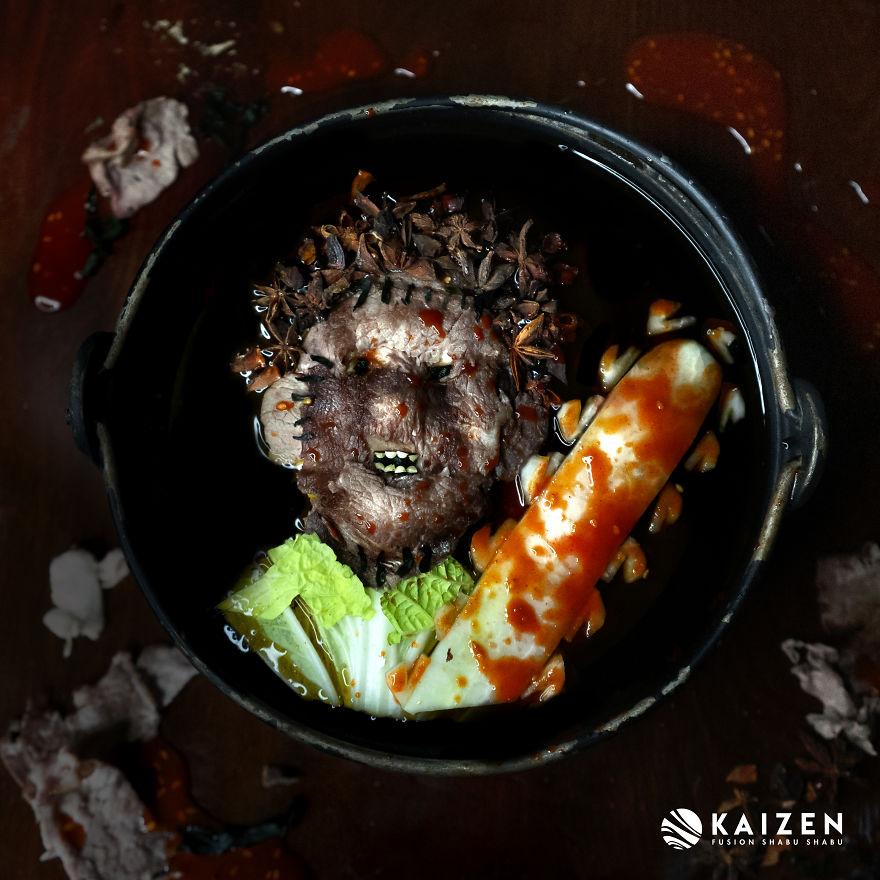Художница сделала портреты монстров из ужасов из обычной еды   Канобу - Изображение 3740