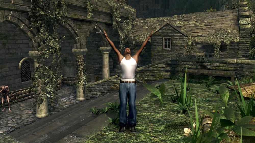 Восславьте Гроув-стрит! Энтузиаст добавил Си-Джея из San Andreas в Dark Souls | Канобу - Изображение 1