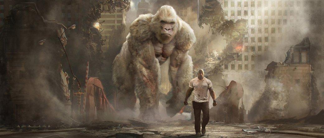 «Рэмпейдж»— Дуэйн «Скала» Джонсон против гигантских животных-мутантов. Мнение спресс-показа. - Изображение 1