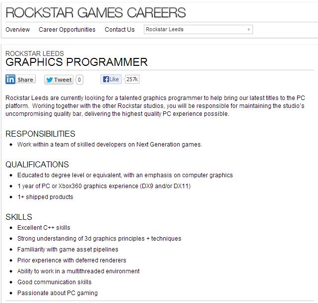 Rockstar ищут графического программиста | Канобу - Изображение 2032
