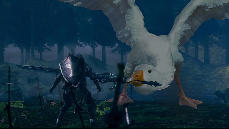 Моддер превратил гуся из Untitled Goose Game в гигантского босса в Dark Souls 3 | Канобу - Изображение 0