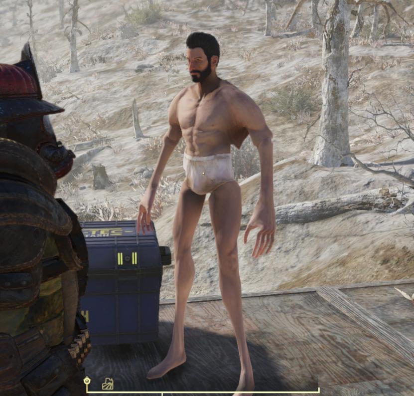 Из-за бага в Fallout 76 силовая броня «раздевает» догола персонажей и деформирует их конечности | Канобу - Изображение 2